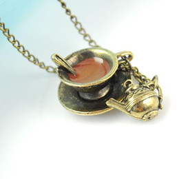 Wholesale Coffee cup amp teapot necklace antique fashion jewelry necklaces hot selling in Melbourne NL