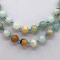 beads set amazonite - 8mm Natural Stone Amazonite Jade Beads Necklace Chain Bracelet Sets Girls Christmas Gifts Jewelry Making Stones Jasper inch