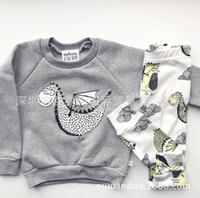 Girl baby dinosaur outfit - NWT New cute Baby Girls Boys Outfits Set Summer Spring Sets Boy Cotton Tops Shirts Hoodie Harem Pants piece sets dinosaurs Print