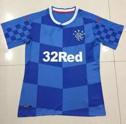 Wholesale Top tailandia calidad Glasgow Rangers Jerseys Shirt Mayoristas Scottish league Jersey home Mejor calidad Home jerseys