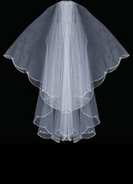 Wholesale Oval Shape Silver Bugle Bead Designer Edge Swaroviki Crystals Wedding Veil wedding veil
