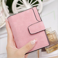 american fasteners - Lady Letter Snap Fastener Zipper Short Clutch Wallet Solid Vintage Matte Women Wallet Fashion Small Female Purse short purse