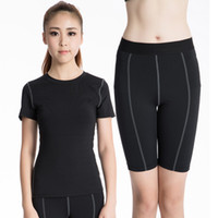 Wholesale New Female sexy Sports Dance Yoga Clothes and Shorts Sport Hoodies Fitness Female Yoga Outfits Running Sport Tops Quick Dry Yoga Clothing