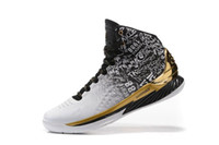 Wholesale 2016 Curry Back To Back Pack Curry MVP Basketball Shoes Men Stephen Curry Shoes White Gold Currys Shoes