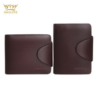 Wholesale Men Wallets Famous Brand Brown Wallets Leather Purse Long Short Purse Male Collection New High Quality