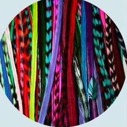 Wholesale Fashion quot Synthetic Grizzly Rooster Feather Hair Extension Feathers Extensions strands pa1