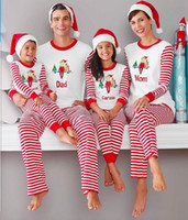 Wholesale retail Family Matching Clothing Christmas Pajamas Mother Daughter Father Son Clothes Family Style Set Parent Child Clothing