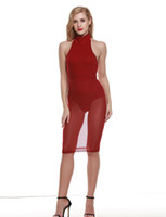 adult swim club - New spring summer Autumn Lace Sexy Womens Clothing V Neck Hollow Out Red Sleeveless Casual Dresses Maxi Dress Swim Dresses Bikini
