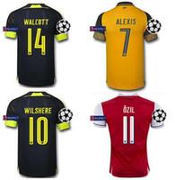 arsenal soccer uniforms - ARSENAL JERSEY ALEXIS SANCHEZ OZIL RAMSEY WALCOTT CAZORLA thai quality soccer jersey thailand football jerseys soccer jerseys uniforms
