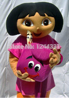 adult mascot costume dora - DORA the explorer adult costume love expeditionary DORA mascot costume plush cartoon role playing clothing polyfoam head