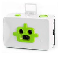 Wholesale New Lomo Robot disderi lens mm Toy Film Camera White Green