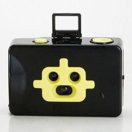 New Lomo Robot disderi 3 lens 35mm Toy Film Camera -Yellow & Black
