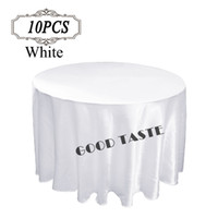banquet tablecloths cheap - Round Cheap Silver Gold Satin Table Cloths Banquet Wedding Table Covers Linens Hotel Tablecloths