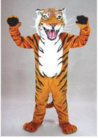 bengal cat tiger - Mascot Costumes Adult Size high quality professional custom bengal tiger cat mascot head costume suit halloween
