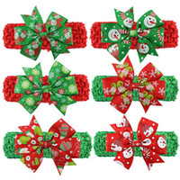 Wholesale Hot Sale Christmas Hair Ornaments Children Bow Hair Band Baby Girls Headband Headdress for Kids Gift