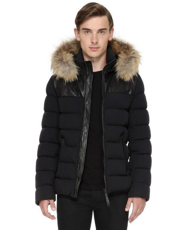 NEW MAN DOWN JACKET HOOD WITH REAL RACCOON FUR COLLAR RONIN BOMBER ...