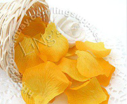 Free shipping-100pcs Gold Yellow Rose Flower Petal Wedding Table Party Favor Decoration