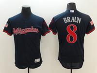 Wholesale 2016 Flex Base Milwaukee Brewers Jersey Ryan Braun Navy Blue Flexbase Stitched Baseball Jerseys Stitched Name and Logo