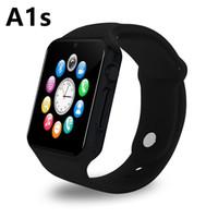 achat en gros de messages de la carte sim-Le plus récent 100% Original A1s Smart Watch Bluetooth Bluetooth SIM Card Appel Push Message Facebook pour Android et ISO Phone Smart Clock