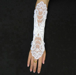Wholesale Hot Sale Stylish Fingerless Lace Bridal Gloves Wedding Gloves Decorating Your Bride Yourself