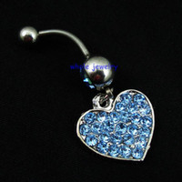 bell body shape - Belly Button Navel Rings Body Piercing Jewelry Dangle Accessories Fashion Charm Heart Shape JFB