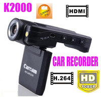 Wholesale K2000 Car recorder HD HDMI H black box angle Mega Pix Car Cam HDMI H Car DVR sample