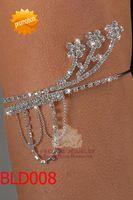 Wholesale Rhinestone flower arm bracelet crystal armlets pageant bracelets wedding jewellery BLD008