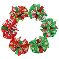 Wholesale 2016 New Style Christmas Hair Ornaments Children Bow Hair Clips Baby Girls Barrettes Headdress Kids Hair AccessoriesWholesale