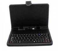 Wholesale Leather case with USB keyboard for inch tablet pc