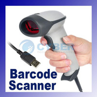 Wholesale USB Long scan laser BARCODE SCANNER BAR CODE READER Keyboard Wedge RS232 Milk White