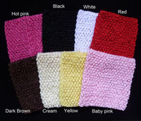 Wholesale 6x6 inches Baby Crochet Tube Tops pettiskirt tutu tops for baby tutu dress colors U Pick