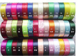 Wholesale Assorted Color Satin Ribbon cm m per reels wedding favor happy