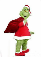 Wholesale Factory direct sale EVA Material Helmet Adult size How the Grinch Stole Christmase cartoon mascot costume Carnival Costume