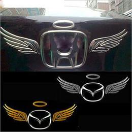 100PCS LOT Stickers for Car 3d PVC Wing Funny Car Decals Mix Color Bumper Stickers