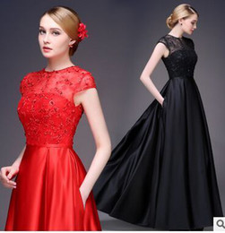 Wholesale Toast The bride fashion the red dress cultivate one s morality teamed party a word shoulder wedding dress
