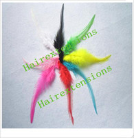 Wholesale Real natural Feather extension feather extensions Silicone Beads Needle Plier