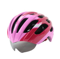 Wholesale Hot road bike bycicle helmet cycling helmets with glasses Cycling helmet same Size Hot Sale