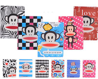 Wholesale hot sale tablet case high quality super slim mokey printing cute cartoon folio smart leather case for ipad air air
