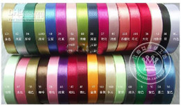 Wholesale Assorted Color Satin Ribbon cm m per reels wedding favor linglinghaoyun