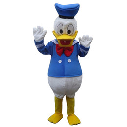 Wholesale Donald Duck mascot costume fancy dress Interesting clothing Animated characters for part and Holiday celebrations