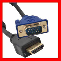 Wholesale 6FT M VGA Male to HDMI Male Cable For LCD TV projector digital camera DVD etc