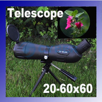 Wholesale 20 x60 degree Zoom High Quality Precision Spotting Scope Telescope Tripod Case Black