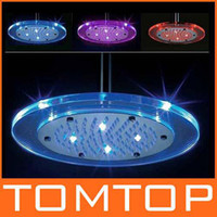 Wholesale batheroom faucet water powered Round led overhead shower color Changing Get the CE amp RoHS H4748