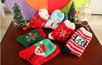 Wholesale Christmas stockings female autumn winter wool socks floor socks lovely side High quality Christmas socks Thickening terry socks