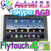 Wholesale 30pcs Flytouch GB Android market quot tablet pc skype GPS webcam infotmic X220 superpad MID