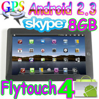 Wholesale 2pcs Flytouch Android market quot tablet pc skype GPS camera Infortm X220 DHL