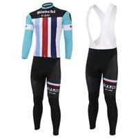 bianchi winter - 2016 BIANCHI thermal thermal fleece cycling jersey and cycling Pants Kits long sleeve winter cycling clothing Ropa Ciclismo