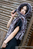 Wholesale The new autumn and winter Ms Rex fur fringed scarves hair scarf with hat
