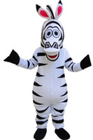 al por mayor cebra madagascar mascota-El traje de la mascota de Madagascar Marty del traje de la mascota de la alta calidad de Madagascar libera el envío