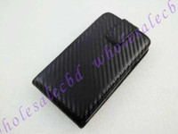 Wholesale 150pcs Black Straw Mat Twill Veins Flip PU Leather Case Pouch Case for Samsung Galaxy S2 i9100